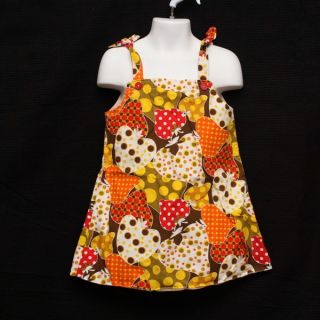 Boutique Earth Groovz Child Girl Strawberry Print Dress Sundress Size