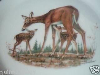 Lenox Boehm Woodland Wildlife Plate Whitetail Deer 1978