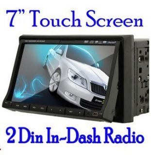 LCD Dual 2 Din Car Stereo Audio DVD  4 Player Radio Tuner USB SD