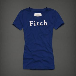 Abercrombie Fitch Womens Blue Color Gwyneth Short Sleeve T Shirt