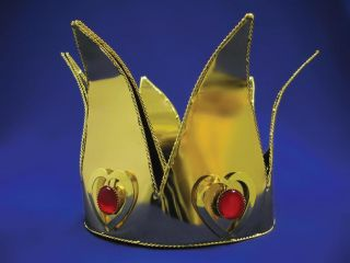 Mini Queen of Hearts Costume Accessory Crown Gold New