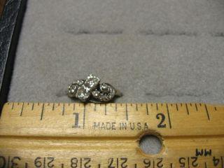 deco vintage antique 18K white gold with appraisal 1 carat TDW 2 ea
