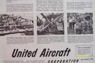 1951 United Aircraft Corporation Ad North American AJ 1 Bomber Bingham