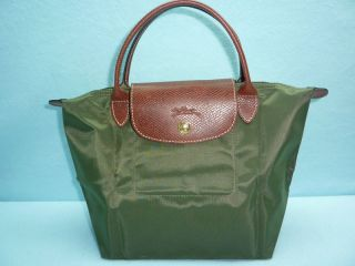 NWT LONGCHAMP LE PLIAGE MINI DUFFLE LODEN GREEN TOTE HANDBAG BAG HOBO