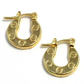 Gold 18k GF Little Hoop Earrings Fashion Lady Teens Girl Designer