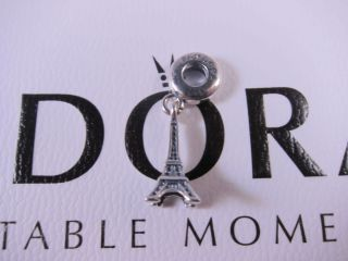 PANDORA 925 S Silver EIFFEL TOWER DANGLE PENDANT CHARM 791802