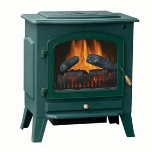 Electric Fireplace Heater Green Brand New Stove Heater