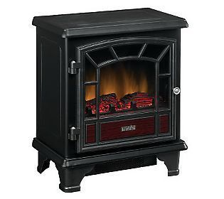 DURAFLAME Portable Electric Stove Heater w Remote Control Woodtrim