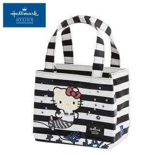 Hallmark Hello Kitty Mini Tote Bag Black Border New Japan