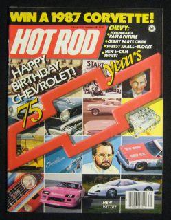 Hot Rod Magazine January 1987 75 Years of Chevy Performance