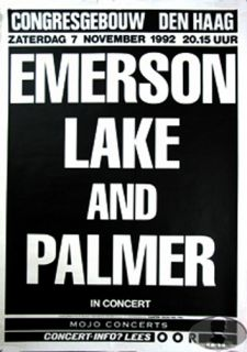 Emerson Lake Palmer 1992 Europe Tour Concert Poster ELP