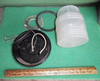 Vintage Camper Trailer RV Bathroom Shower Light Screw on Globe