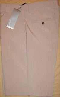 Adidas Adipure check flat front golf short 38 Waist (Rye / Ecru)