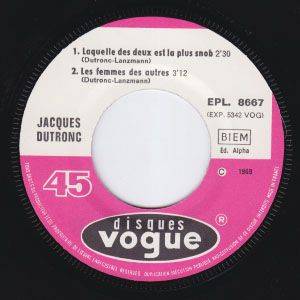 JACQUES DUTRONC Le Responsable +3 MONSTER MOD DANCER orig french EP M