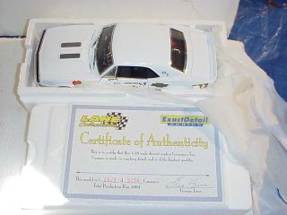 Boxed Bill Jenkins 67 Camaro 1 18 Lane Drag Race Lim Ed Die Cast Car