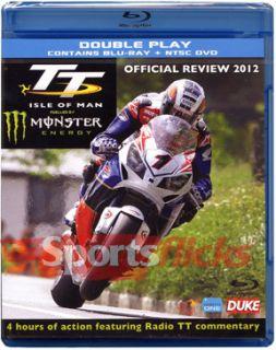 TT Isle of Man 2012 Blu Ray DVD Combo Pack Motorcycle Racing Movie