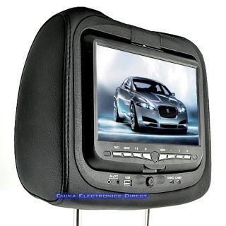 2x 9 LCD Headrest Car Monitors DVD Player Game System FM USB SD AV CD