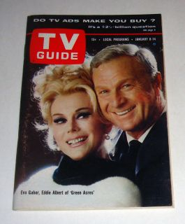 Jan 1966 TV Guide Eva Gabor Eddie Albert Green Acres No Label Free