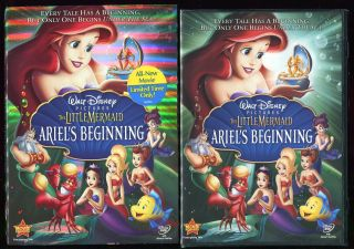 Disney Little Mermaid Ariels Beginning DVD New Sealed Sleeve 2008 NOS