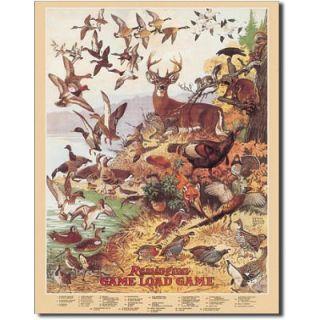 Remington Game Load Deer Duck Hunting Tin Sign 12 5x16