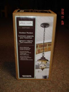 NEW OUTDOOR PENDANT LIGHT OIL RUBBED BRONZE EASTVIEW ALLEN ROTH LEAF