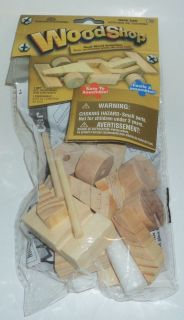 Woodshop Real Wood Activities Craft Easy to Assemble Race Car NIP