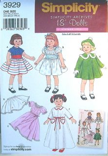 18 Doll Clothes Easy Sew Pattern Fits American Girl Cape Vest Coat