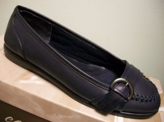 Easy Street Womens Navy Blue Shoes Slip on Loafers Boundary 10 M New