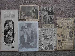 CHARLIE McCARTHY EDGAR BERGEN VENTRILOQUIST 1937 50 AD LOT CHASE