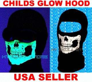 Child Kids Modern WARFARE2 Cod Ghost Balaclavas Skull Ski Masks Glow