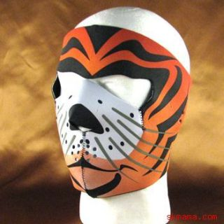 Tiger Cat Neoprene Full Face Mask Nose Mouth Vent Snow