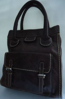 Chloe Edith Brown Leather Hand Bag Tote Authentic Made in Italy