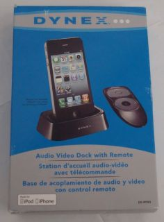 Dynex Audio Video Docking Station With Remote for Apple iPod and