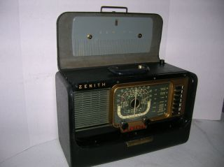 ZENITH RECONDITIONED VINTAGE TRANS OCEANIC AM SHORTWAVE RADIO H 500