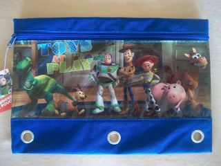 Disney Toy Story 3 Ring Binder Pencil Pouch By National Design, NEW IN