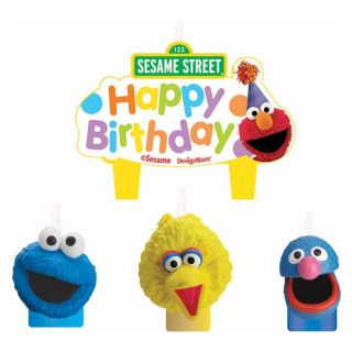 Cake Candle Set Elmo Cookie Monster Birthday Party Supplies