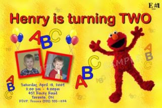 Personalized Custom ELMO BIRTHDAY Invitations Thank You Cards