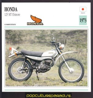 1973 Honda 125 MT Elsinore Bike Motorcycle Photo Card