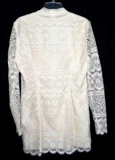 Elissa Ivory White 2 PC Womans Lace Jacket Long Chiffon Skirt Suit Sz