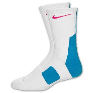 NIKE ELITE SOCKS 2 0 SOUTH BEACH MIAMI VICE WHITE TEAL PINK SIZE 8 12