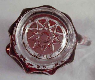 1900 Ruby Flash Glass Creamer Atlantic City Elizabeth