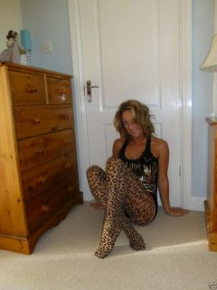 POPPYS WORN RARE ANIMAL PRINT EMILIO CAVALLINI TIGHTS PANTYHOSE