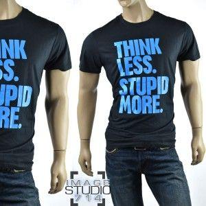 Mens Diesel Brand Shirts New EDUN Stupid Humor Cotton T Tee Shirt Top