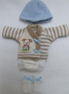 Ellery Kish OOAK Baby Doll 4 PC Diaper Shirt Clothes Outfit 5 6 Puppy