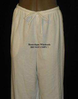 Eileen West Ivory Embroidered Notch Collar 2 PC Pajama Set $70 Large