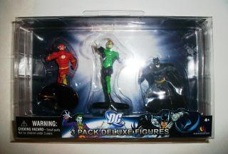 New DC 3 Pack Deluxe Figure Set Batman Flash Green Lantern Series 1