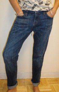 CURRENT ELLIOT Mid Rise THE ROLLER Boyfriend Slouchy Jeans PACIFIC