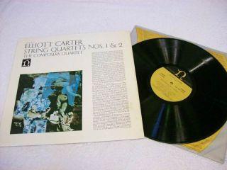 Elliott Carter String Quartets No 1 2 Nonesuch