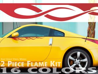 Pinstripe Flame Decals PT Cruiser HHR Hot Rat Rod RAM 4x4 Available in