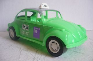 Mexican Taxi VW Beetle Plastic Toy Car Made in Mexico